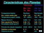 caracter sticas dos planetas