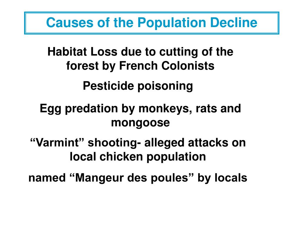 Causes of the Population Decline