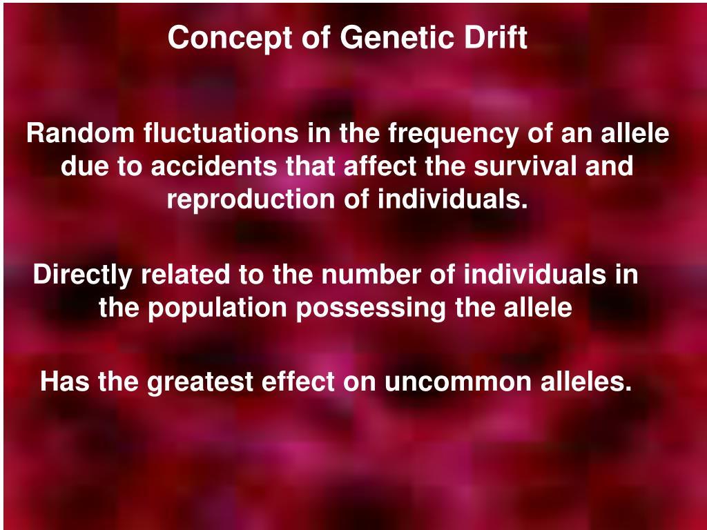 Concept of Genetic Drift