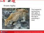 known agility