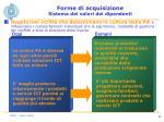 forme di acquisizione sistema dei valori dei dipendenti