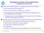 strategie inerenti il sw applicativo sviluppo di sw ad hoc