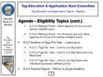tag allocation and application topics agenda8