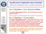 tag allocation and application topics tag return ramifications23