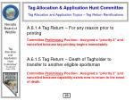 tag allocation and application topics tag return ramifications24