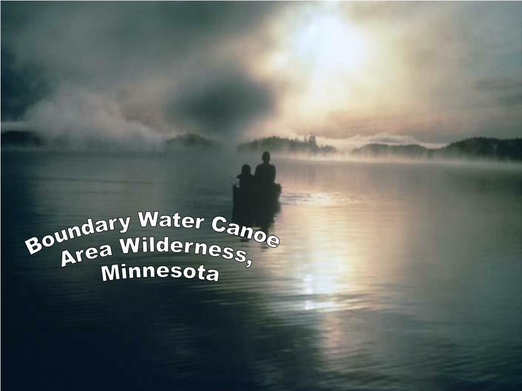 Boundary Water Canoe