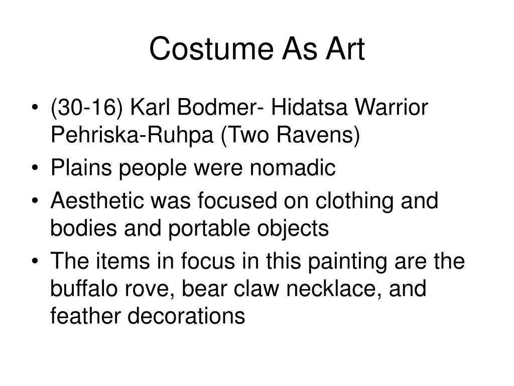 Costume As Art