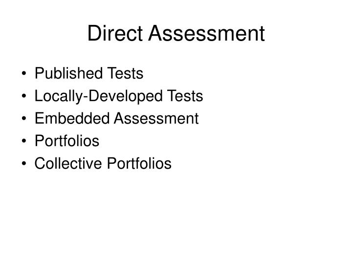 Direct Assessment
