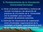 6 fortalecimiento de la vinculaci n universidad sociedad