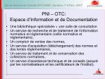 pni otc espace d information et de documentation