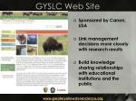 gyslc web site