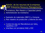 adm n de los recursos de la empresa erp enterprise resource management1