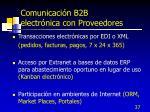 comunicaci n b2b electr nica con proveedores