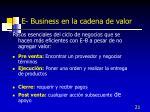 e business en la cadena de valor