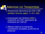 relaciones con transportistas