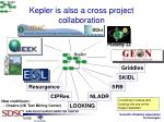 kepler is also a cross project collaboration