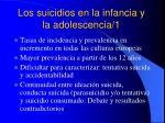 los suicidios en la infancia y la adolescencia 1