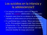 los suicidios en la infancia y la adolescencia 2