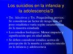 los suicidios en la infancia y la adolescencia 3