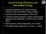 czech energy efficiency and renewable energy
