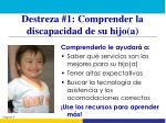 destreza 1 comprender la discapacidad de su hijo a