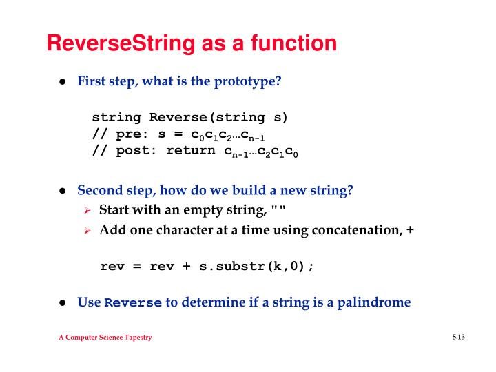 ReverseString as a function