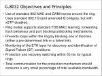 g 8032 objectives and principles