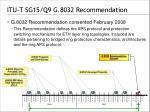 itu t sg15 q9 g 8032 recommendation