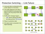 protection switching link failure