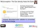misconception the sun directly heats the earth