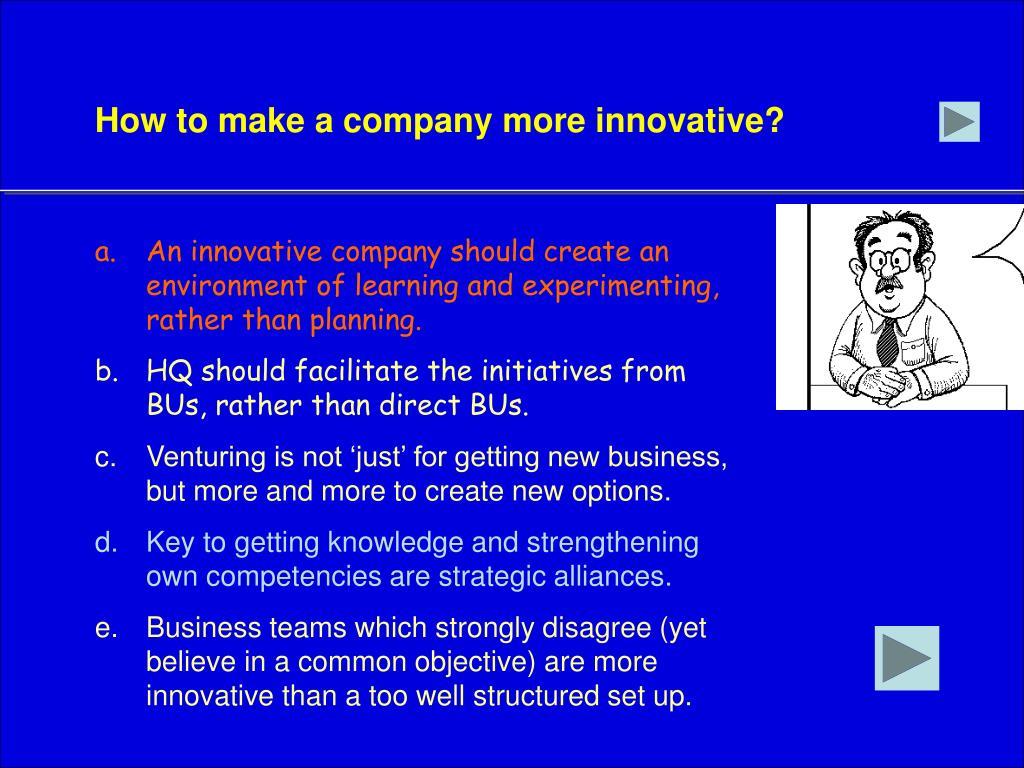 How to make a company more innovative?