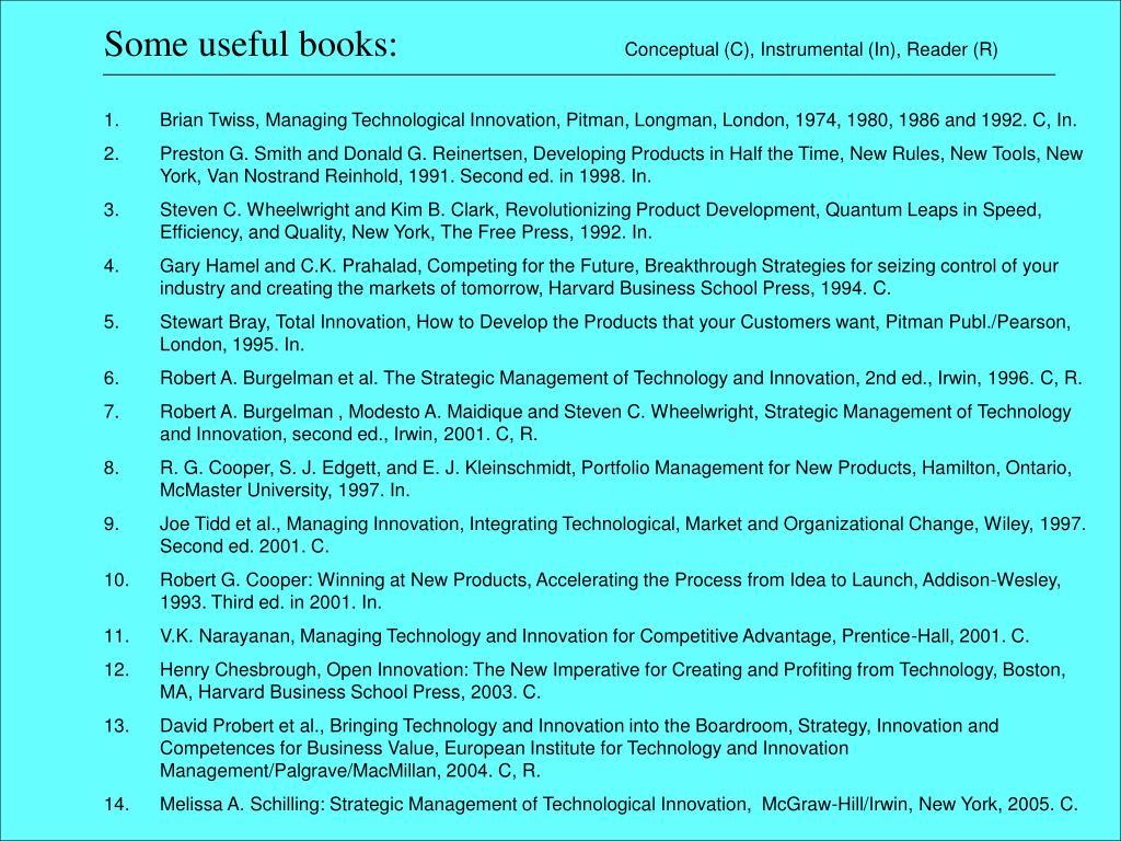 Some useful books: