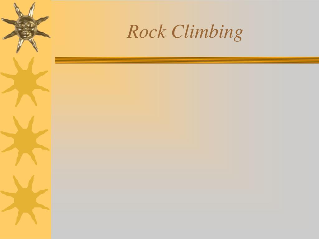 rock climbing l.