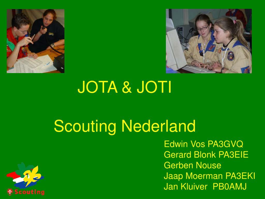 jota joti scouting nederland l.