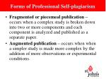 forms of professional self plagiarism1