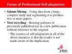 forms of professional self plagiarism2