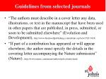 guidelines from selected journals1
