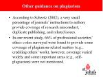 other guidance on plagiarism