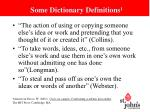 some dictionary definitions