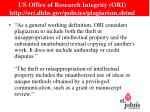us office of research integrity ori http ori dhhs gov policies plagiarism shtml