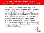 us office of research integrity ori http ori dhhs gov policies plagiarism shtml1