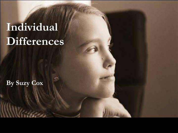 individual differences n.