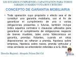 concepto de garantia mobiliaria