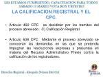 la calificacion registral y el cpc