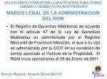 marco legal de la administracion del rgm