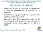 prelacion de una gm