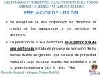 prelacion de una gm1