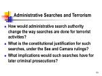 administrative searches and terrorism1