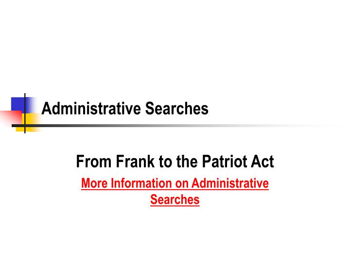 administrative searches n.