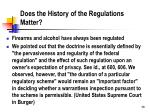 does the history of the regulations matter